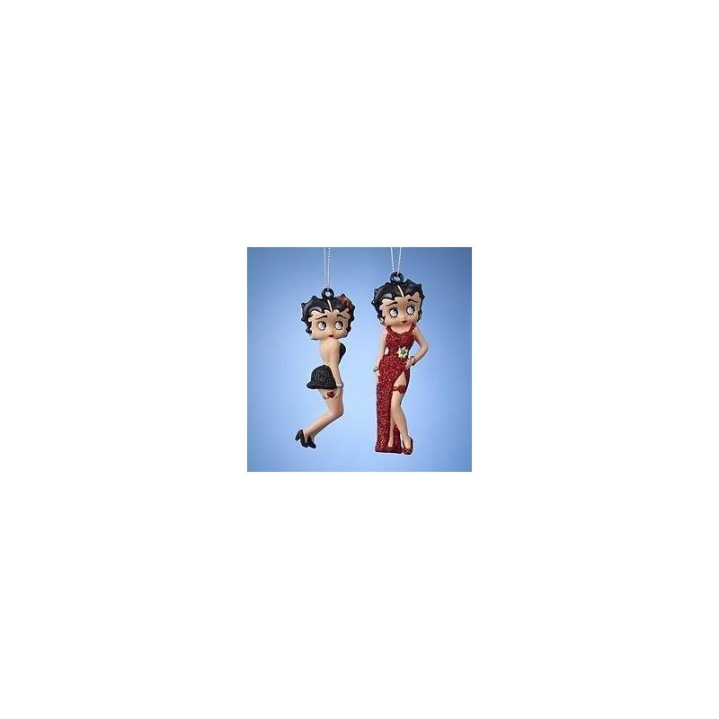 2000 2Dlg Hot Red Dress / Short Black Dress - Betty Boop