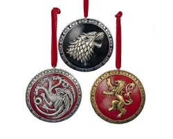 2014 3Dlg Ornament Shieldes - Game of Thrones