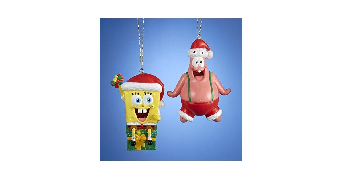 2017 2Dlg Ornamentset - Spongebob & Patrick