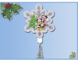 Holidazzler Tree Topper/Piek - Mickey & Minnie