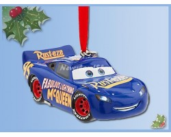 8593 3D Dangle Ornament Blue Light-Up - McQueen