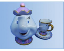 Mid Figuur - Mrs Potts & Chip