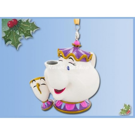 8709 3D Dangle Ornament - Mrs Potts & Chip