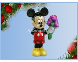 Glass Ornament - Mickey