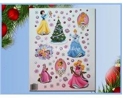 Raamstickers kerst  42x30cm  - Princess