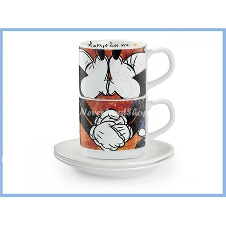 Kiss Me! 2 Espresso Kop & Schotels - Mickey & Minnie