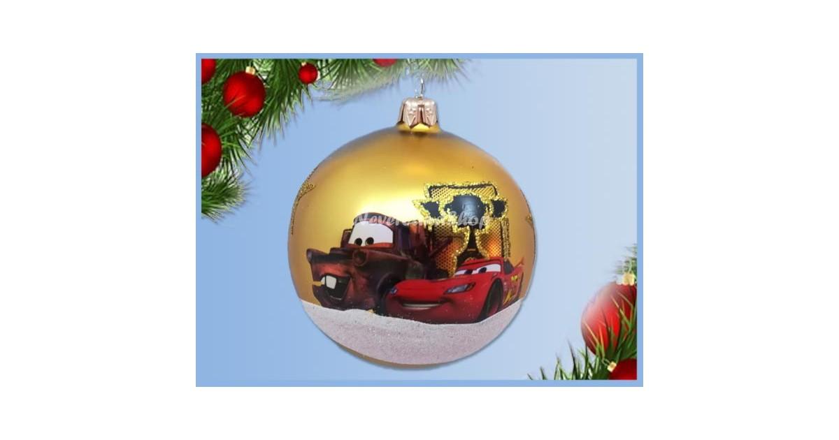 Glas Ornament Trophy - Cars