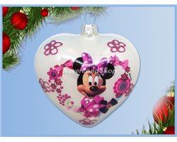 Glas Ornament Pink Dress - Minnie