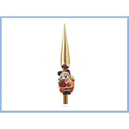 Treetopper / Piek Glas Cadeau - Mickey