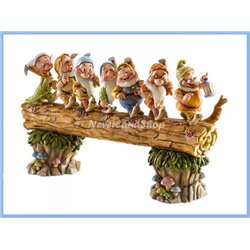 Masterpiece Edition Large Seven Dwarfs on Log Figurine