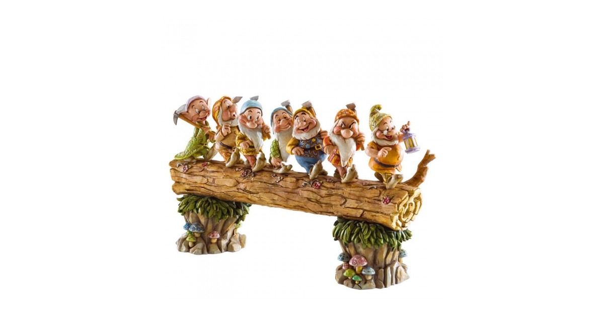 Masterpiece Edition Large Seven Dwarfs on Log Figurine