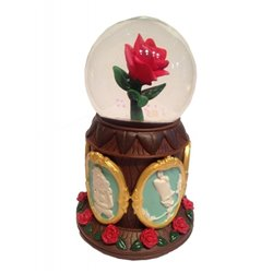 Snowglobe - Beauty & the Beast - Rose