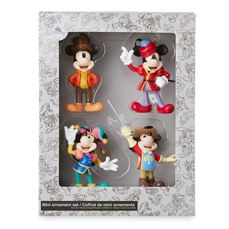 Mini Ornament 4dlg Set Musketeer - Mickey