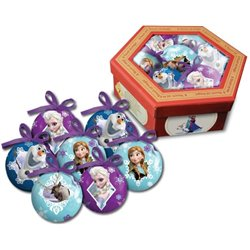 Set van 7 onbreekbare kerstballen in Luxe box - Frozen