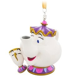 8708 3D Dangle Ornament - Mrs Potts & Chip