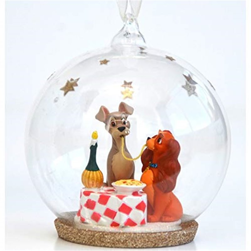 8749 3D Figuur in Dome Romantic Dinner - Lady & the Tramp