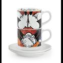 EM 205 Kiss Me! 2 Espresso Kop & Schotels - Mickey & Minnie