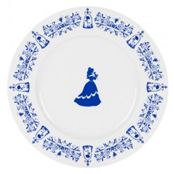 4dlg Set Dinner Boorden Konings Blauw - Beauty & the Beast