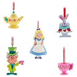 Mini Ornament Set - Alice in Wonderland