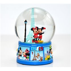 SnowGlobe Medium Paris - Mickey & Minnie
