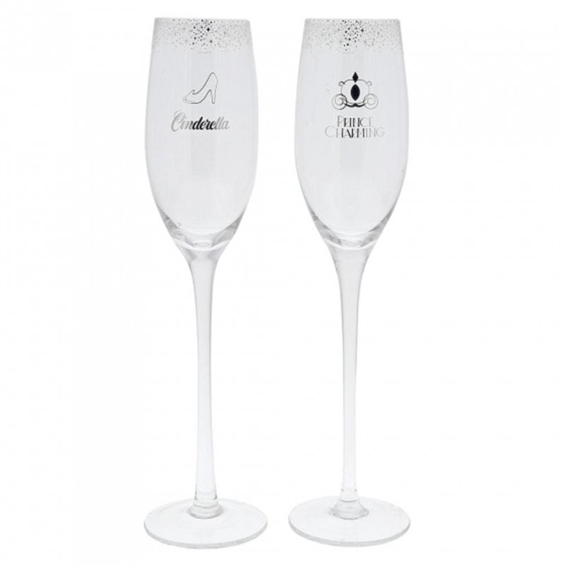 Wedding Toasting Glasses - Cinderella