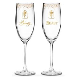 Wedding Toasting Glasses - Beauty & the Beast