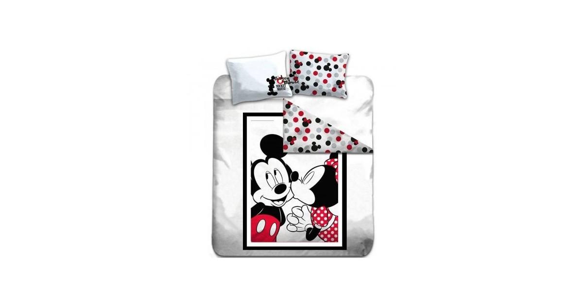 Dekbedovertrek Kissing - Mickey & Minnie