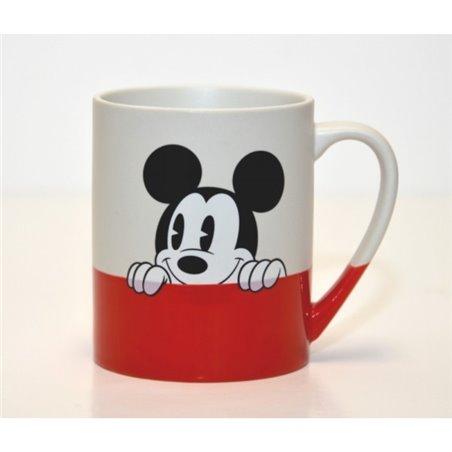 Mok rood Wit - Mickey