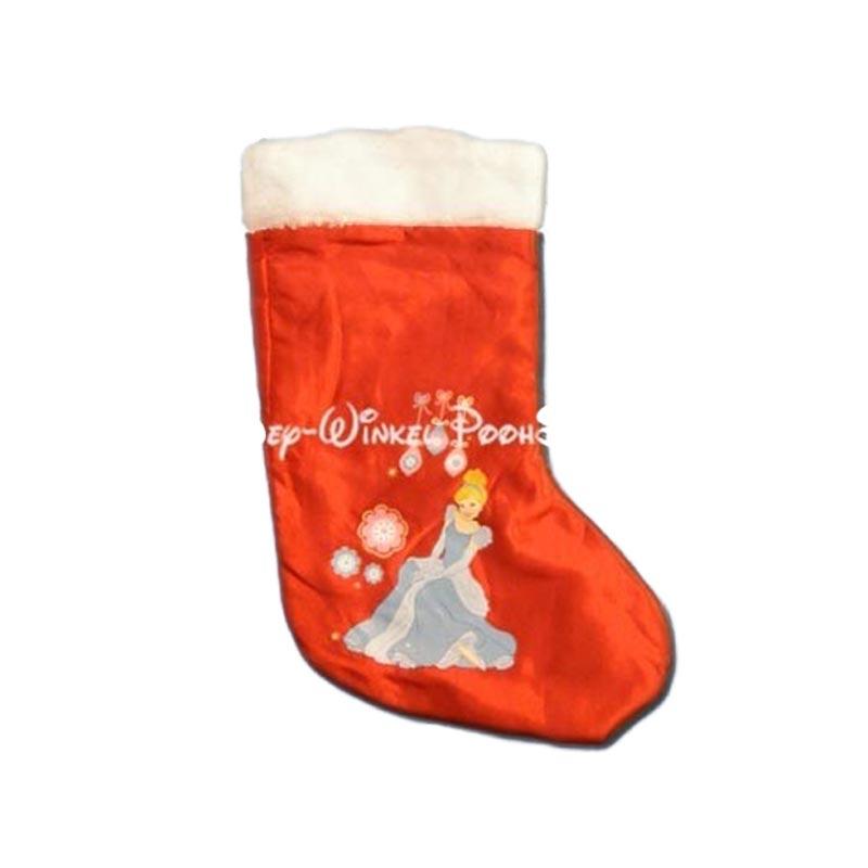 Bonte Satin Kerstsok - Cinderella