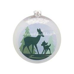 8757 Platte Kerstbal - Bambi