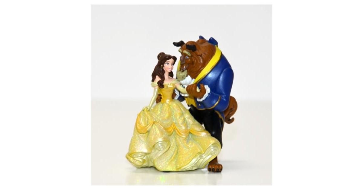 Klein Glitter Beeldje - Beauty & the Beast