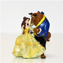 Klein Glitter Beeldje - Beauty & the Beast