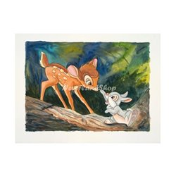 New Friends Deluxe Print by Noble - Bambi & Thumper