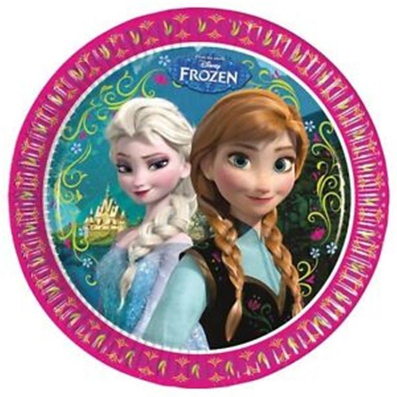 Bordjes 8 stuks - Anna & Elsa