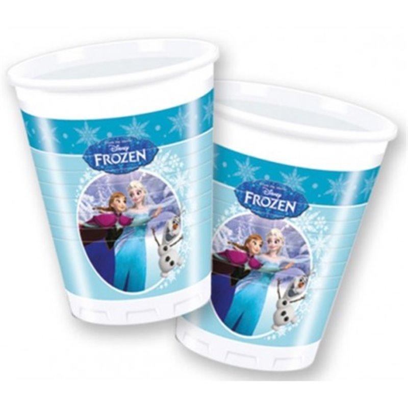 Plastic Bekers 8 Stuks Ice Skating  - Anna, Elsa & Olaf