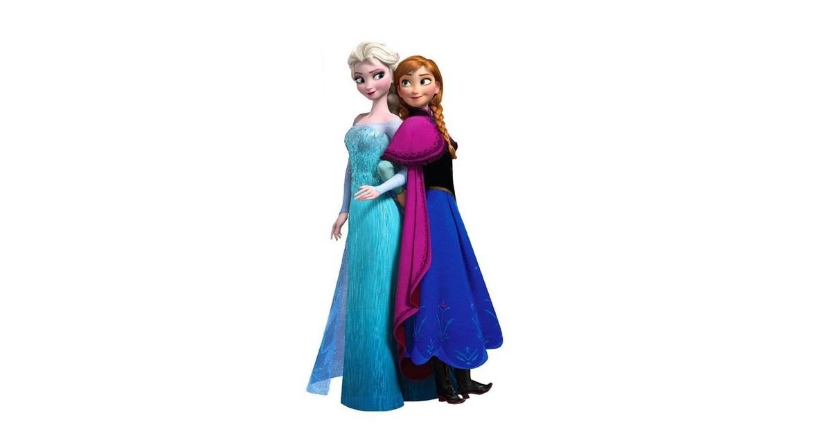 Muur Sticker 74/40cm  - Anna & Elsa