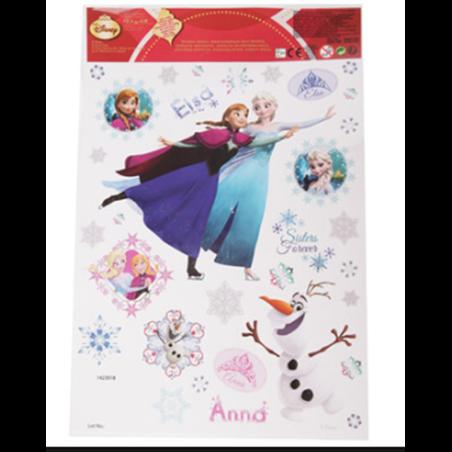 Raamstickers kerst  30x20cm  - Frozen