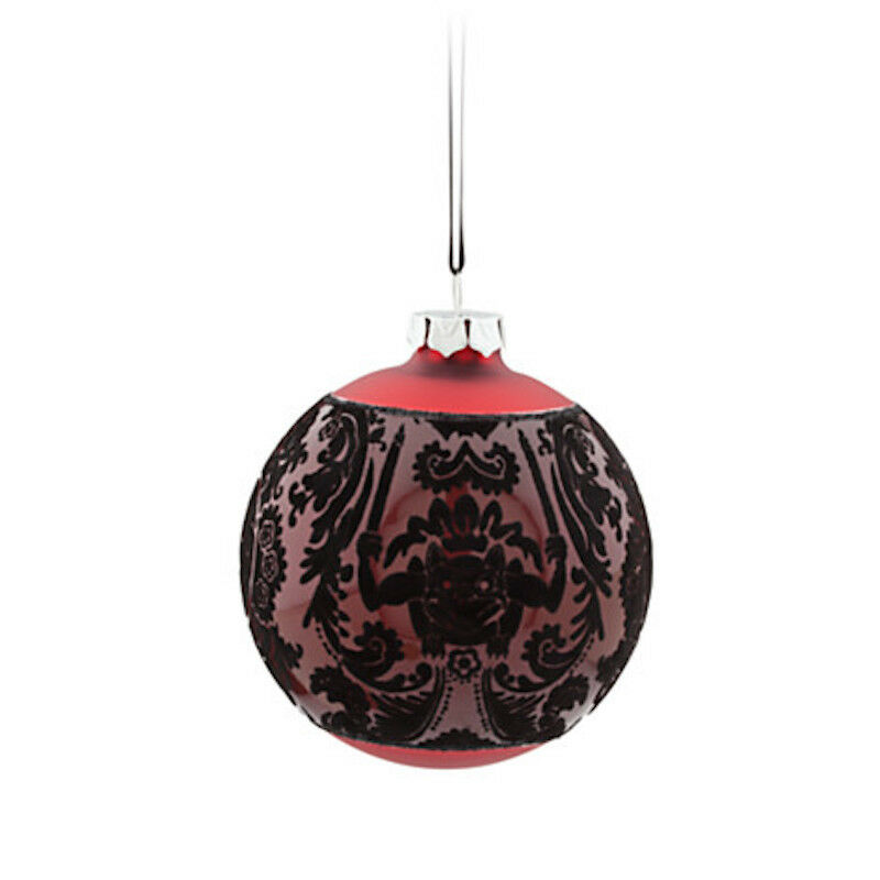 8284 Glass Ball Ornament - Red - The Haunted Mansion