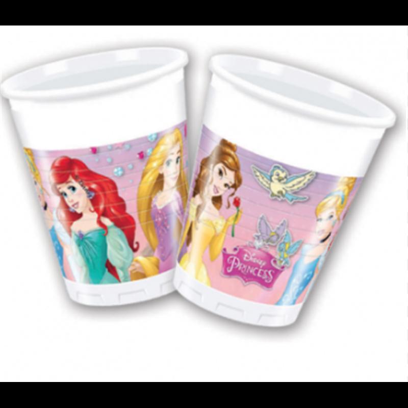 Plastic Bekers 8 Stuks  - Princess