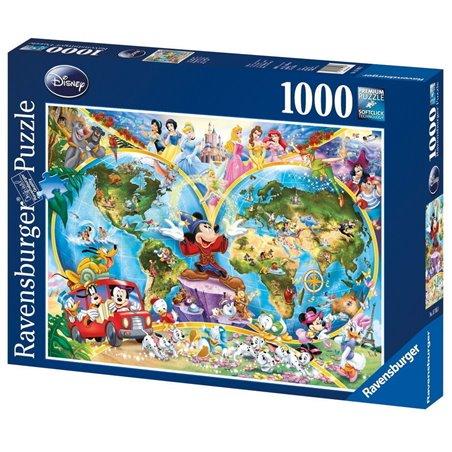 Puzzel 1000 Stuks - Disney's Wereldkaart
