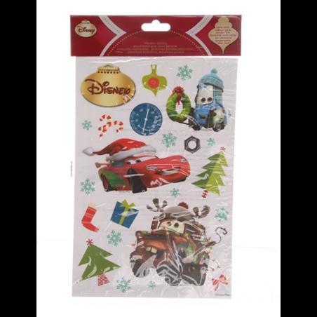 Raamstickers kerst  30x20cm  - Cars
