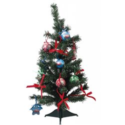 18 dlg Kerstboom met onbreekbare ornamenten 60cm - Cars