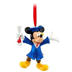 7845 3D Dangle Ornament - Graduate - Mickey