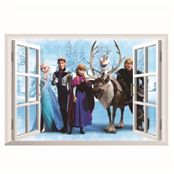 Muur Sticker Window Klein - Frozen