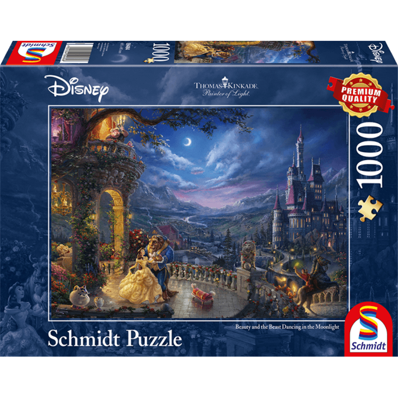 Thomas Kinkade Puzzel - Beauty & the Beast