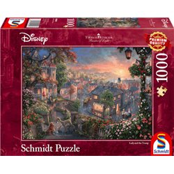 Thomas Kinkade Puzzel - Lady & the Tramp