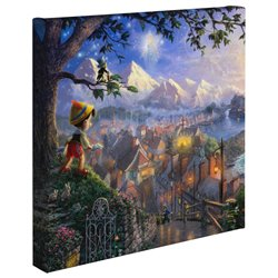Thomas Kinkade Wishes Upon A Star - Pinocchio