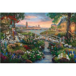 Thomas Kinkade Canvas - 101 Dalmatians