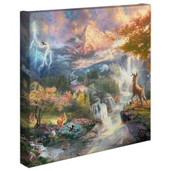 Thomas Kinkade Canvas - Bambi
