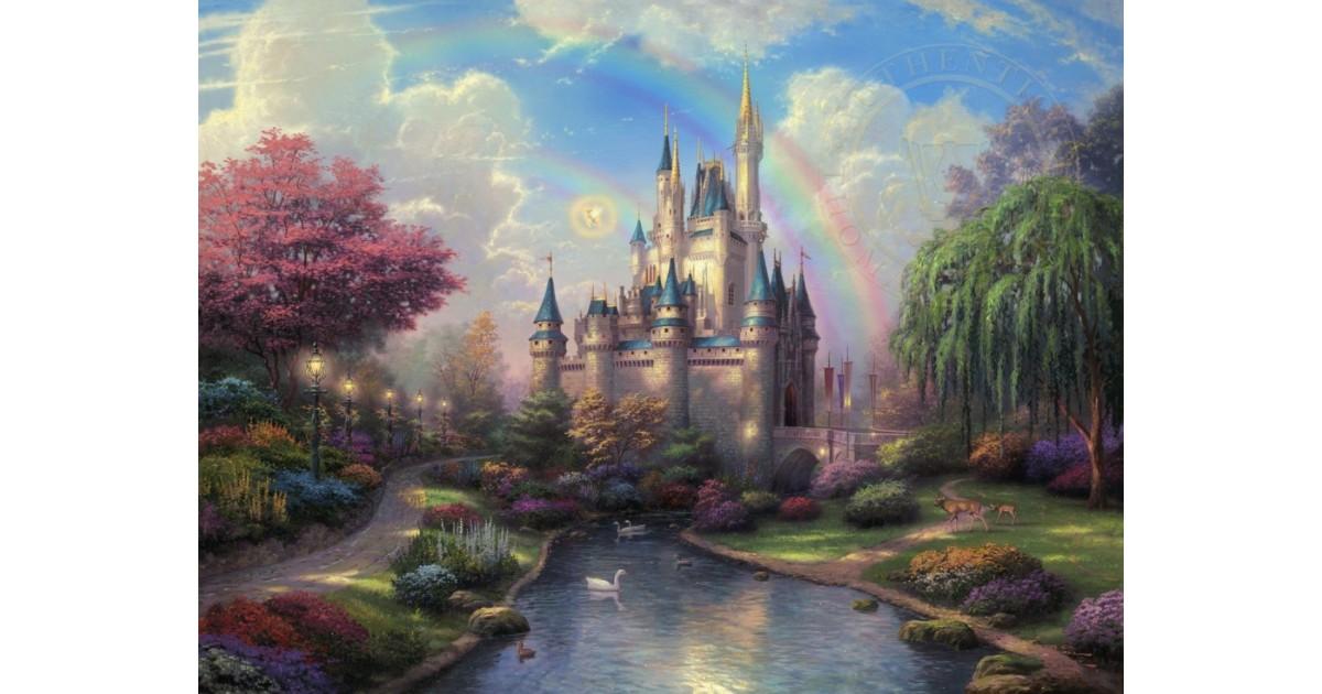 Thomas Kinkade A New Day- Cinderella
